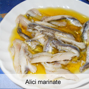 alici marinate in olio e limone