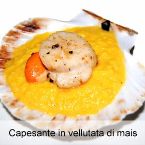 Capesante in vellutata di mais for Alta cucina ricette