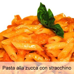 Ricetta della pasta con zucca gialla