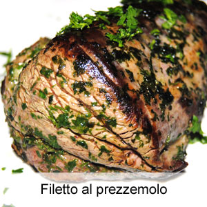 filetto di carne di manzo al prezzemolo tritato